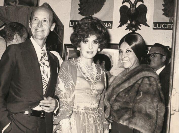 Manuel del Rey y Gina Lollobrigida